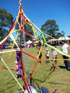 A fantastic spider's web at Music at the Creek 2014.