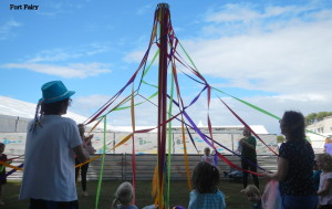 Little spiders weaving a web at Port Fairy FF 2015.